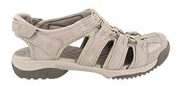 Clarks Women\'s Clarks Vapor Mist Sandal,Stone,6.5 M US