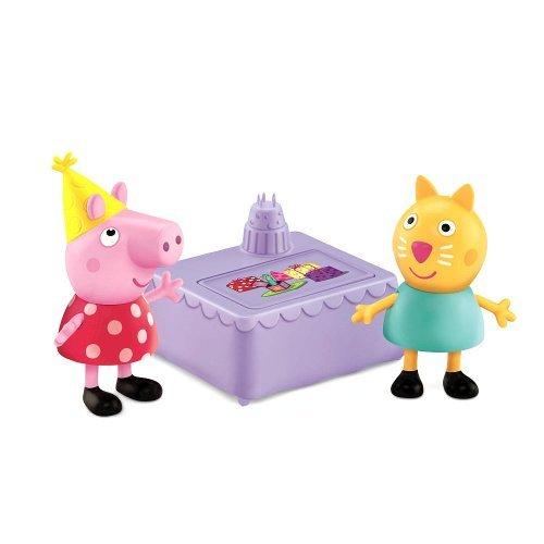 Imagen de Fisher-Price Peppa Pig 2-Pack Figuras-Peppa y caramelo fiesta de cumpleaños del gato