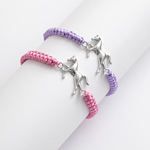 adjustable-cord-bracelet-with-metal-horse-centrepiece-2-colours-one-chosen-at-random