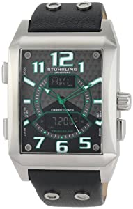 Stuhrling Original Men's 255B.331571 Leisure Mad man Digital Quartz Chronograph Perpetual Calendar Black Watch