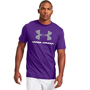 Under Armour Shirt Sportstyle Logo - Camiseta, color violett, talla L