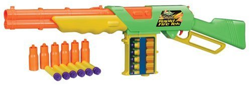 Western Style Nerf Rapid Fire Rifle with 6 darts & 6 shells