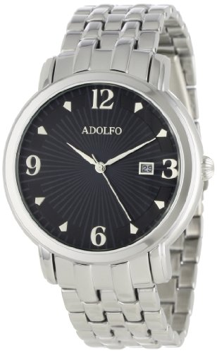 ADOLFO Men's 31023C Round Face Calendar Sun Dial Watch