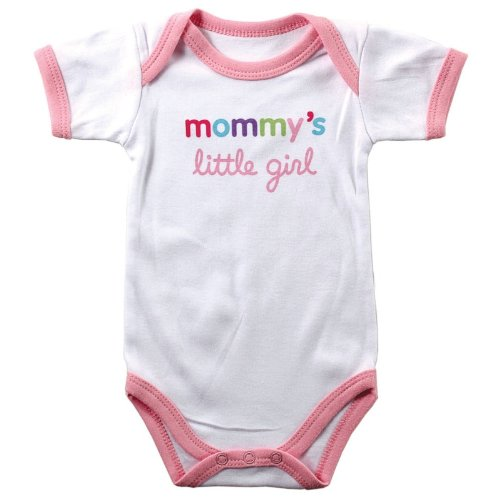 Baby Sayings Bodysuit - Mommy's Little Girl, 3-6 months