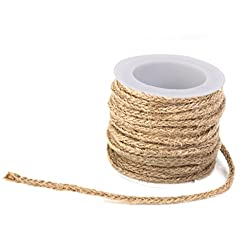 Imported Hessian Rope Burlap Craft Ribbon for Vintage Wedding Home Decor 5M