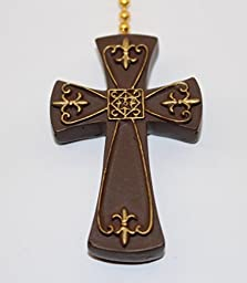GiftCraft Ceiling Fan Pull, Cross