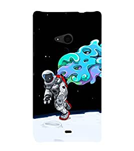 printtech Astronaut Abstract Space Back Case Cover for Nokia Lumia 535::Microsoft Lumia 535