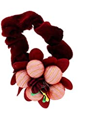 Anuradha Art Maroon Colour Floral Design Styled With Beads Hair Accessories Hair Band Stylish Rubber Band For...