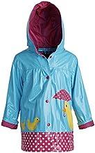 Wippette Little Girls Waterproof Vinyl Fully Lined Hooded Duck Rain Jacket