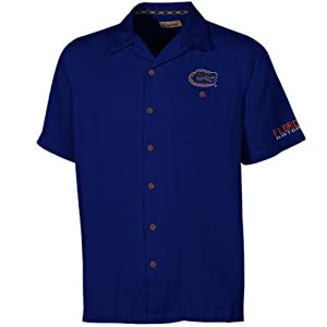NCAA Florida Gators Bermuda Button-Up Camp Shirt - Royal Blue by Chiliwear LLC