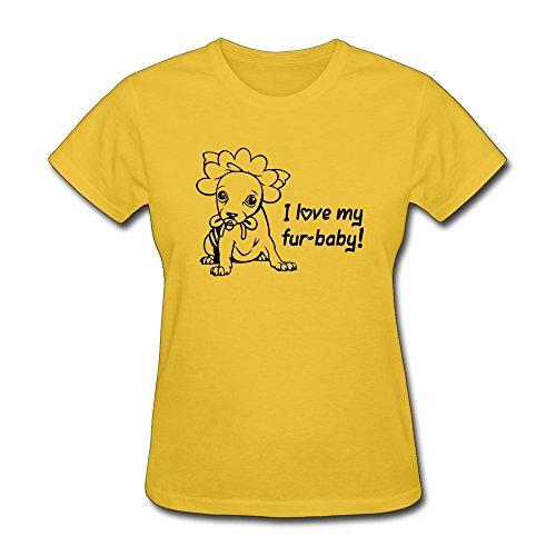 Furbaby Love,Custom Printed Womens T-Shirts - Gold T Shirts front-300726