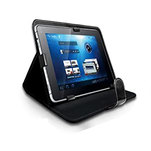 "TMLM® Black 7"" Universal Faux Leather Case Cover For All 7 inch Android Tablet, iPad Mini, Galaxy Tab 2, Tab 3, Nexus 7"