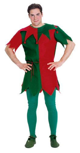 Rubie's Costume Men's Economy Elf Tunic, Multicolor, One Size