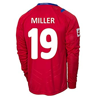 Buy Lotto MILLER#19 Costa Rica Home Jersey World Cup 2014 (Long Sleeve) by Lotto