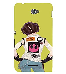 EPICCASE Trendy Girl Mobile Back Case Cover For Sony Xperia E4 (Designer Case)
