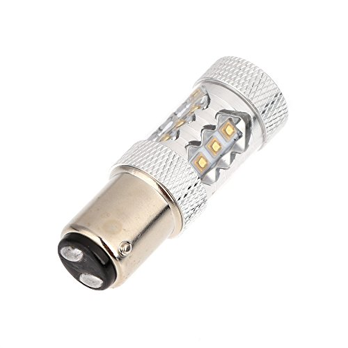 Andoer 80W 1157 Bay15D 16*Osram Led Car Tail Brake Stop Light Bulb Lamp White