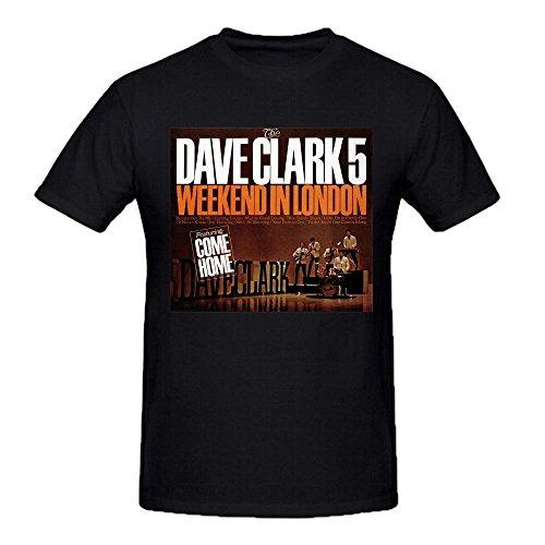 The Dave Clark Five Weekend Printed Tee Shirts Men Ground Neck Black