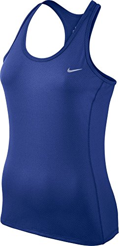 Nike Women's Dri-FIT? Contour Tank Top Deep Royal Blue/Reflective Silver Tank Top MD