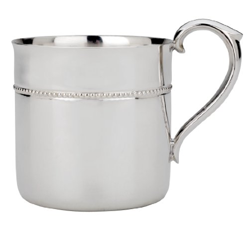 Reed & Barton Silver Plate  Beaded Baby Cup - 1