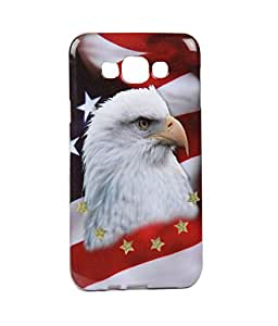 Exclusive Rubberised Back Case Cover For Samsung Galaxy E5 - Eagle