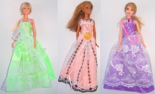 Barbie Doll Dresses - The Spring Formal Collection (3 Dress Set) - DOLLS NOT INCLUDED