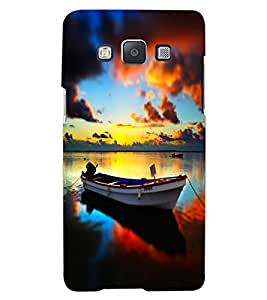 ColourCraft Beautiful Boat Design Back Case Cover for SAMSUNG GALAXY A8
