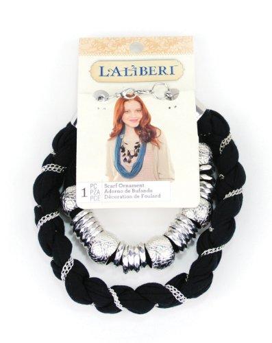 EK Success Brands Laliberi Swag Scarf Accessory, Braids and Sliders, Large