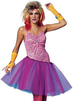 80's Costumes 80's Glam Girl Adult Halloween Costume
