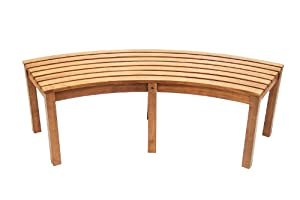 Amazon Com Achla Designs Curved Backless Bench Patio
