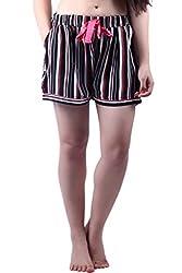 Vixenwrap Black Striped Shorts(L_Black)