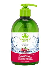 Nature's Gate Pomegranate Sunflower Velvet Moisture Liquid Soap, 16-Ounce Bottles (Pack of 2)