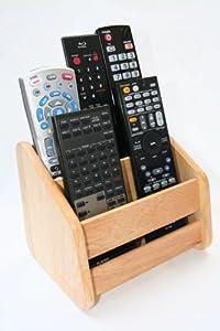 Remote Control Organizer Caddy - Solid Hardwood