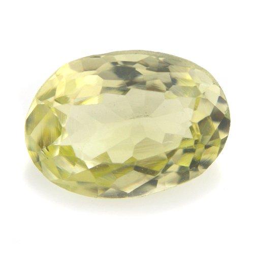 Natural Light Green Sillimanite Loose Gemstone Oval Cut 9*6mm 1.40cts VS Grade
