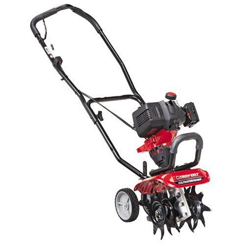 buy Troy Bilt TB144 26cc 4 Cycle Gas Powered Cultivator Tiller with Edger Attachment Kit B0001AU31U from TillerSHOP partner