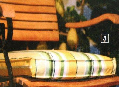 Sander Sitzkissen MONTEBELLO grün/gelb 40 cm x 40 cm gefüllt günstig bestellen