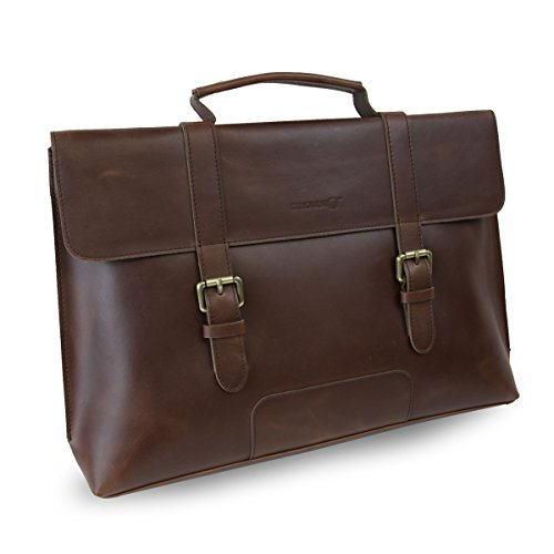Click to buy LB1 High Performance Leather Unisex Business Messenger Bag Briefcase Bag for Sony Vaio SVP1321GGXBI 13.3-Inch Ultrabook with Windows 7 Professional (Brown) - From only $63.04