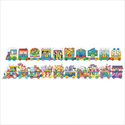 Cheap The Learning Journey Puzzle Doubles Giant ABC and 123 Trains (B002KIGDCO)