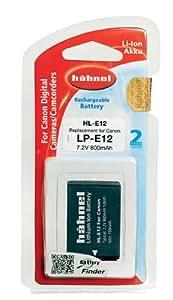 Hähnel HL-E12 Batterie Li-ion de rechange pour Canon LP-E12, 800 mAh