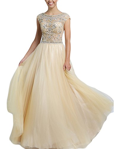 SeasonMall-Womens-Prom-Dress-A-Line-Champagne-Tulle-Long-Evening-Dress