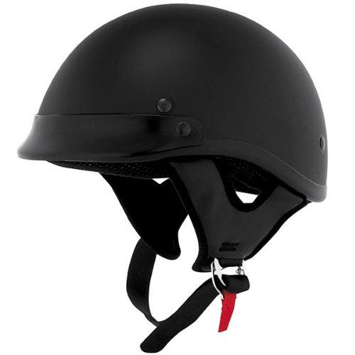 Skid Lid Solid Traditional Touring Motorcycle Helmet - Flat Black / Medium