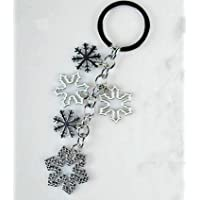 White Christmas Snowflake Couple Keychain Car Keychain Key Ring Key Chain Key Ring Snowflake Christmas
