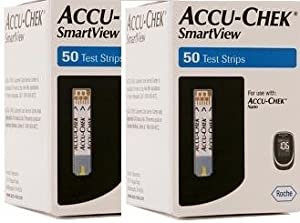 Accu Chek Smart View Test Strips 100 Strips 2x50pack Sold By Diabetic Corner
