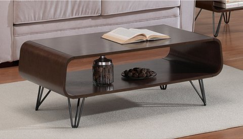 Astro Cool Retro Wood and Metal Coffee Table