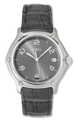 Ebel - 9187241-17635135 - Montre Homme - Quartz - Analogique - Bracelet Cuir Gris