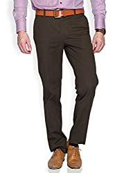 ColorPlus Medium Green Men Trouser