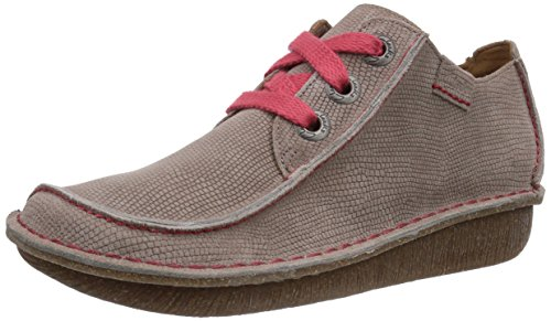 Clarks Funny Dream, Scarpe stringate donna, Grigio (Grau (Shingle Leather)), 38