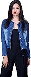 Style Souk Women's Regular Fit Jacket (Skj09s, Blue, Small)