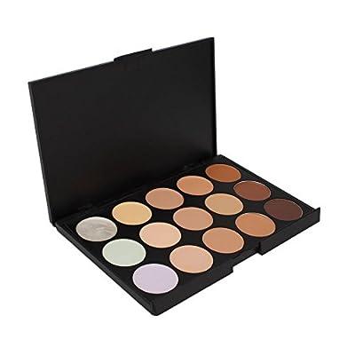 Leegoal Professional 15 Color Concealer Camouflage Makeup Palette,Black
