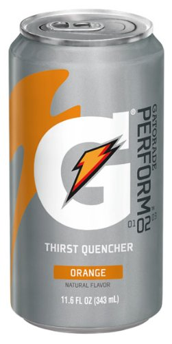 Gatorade Sports Drink, Orange, 11.6-Ounce Cans (Pack Of 24)