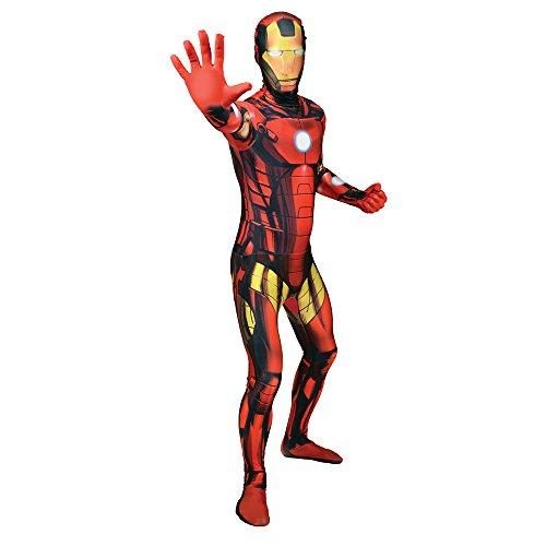 Costume Carnevale Tuta aderente Iron Man Supereroe fumetti film Morphsuit adulto